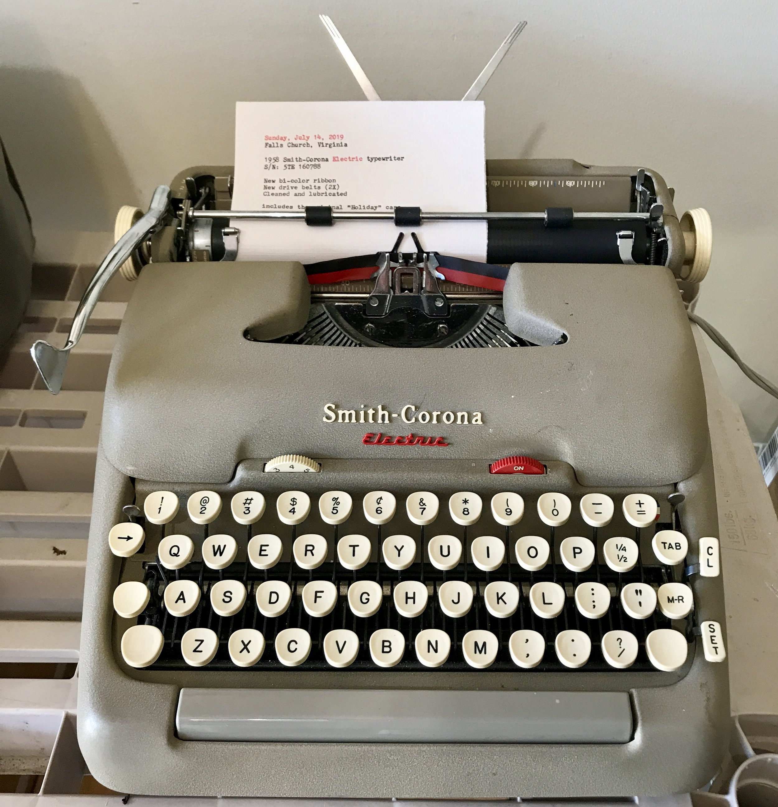 The revived 1958 Smith-Corona Electric typewriter.