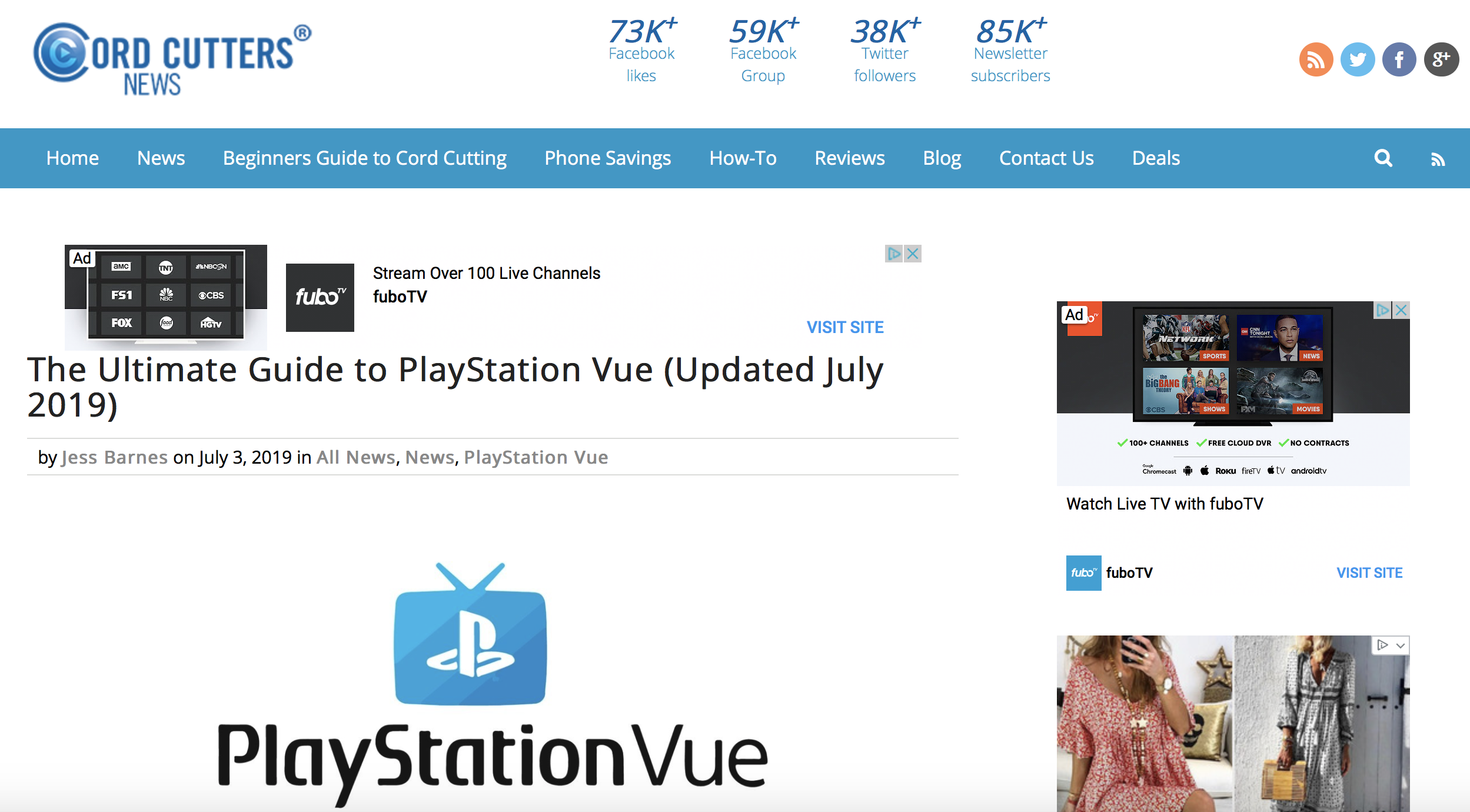 The Ultimate Guide to PlayStation Vue || Cord Cutters News
