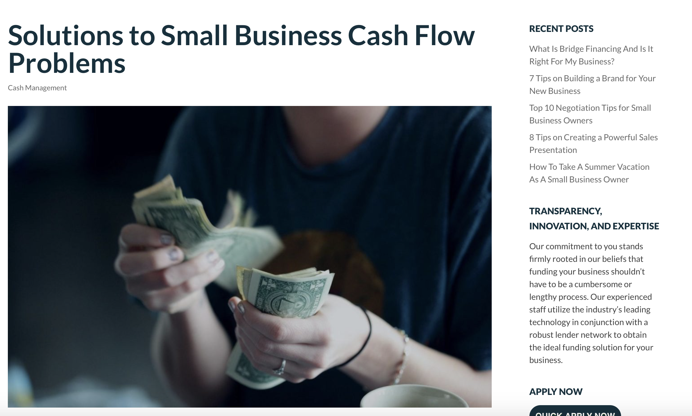 Solutions to Small Business Cash Flow Problems || Strategic Capital
