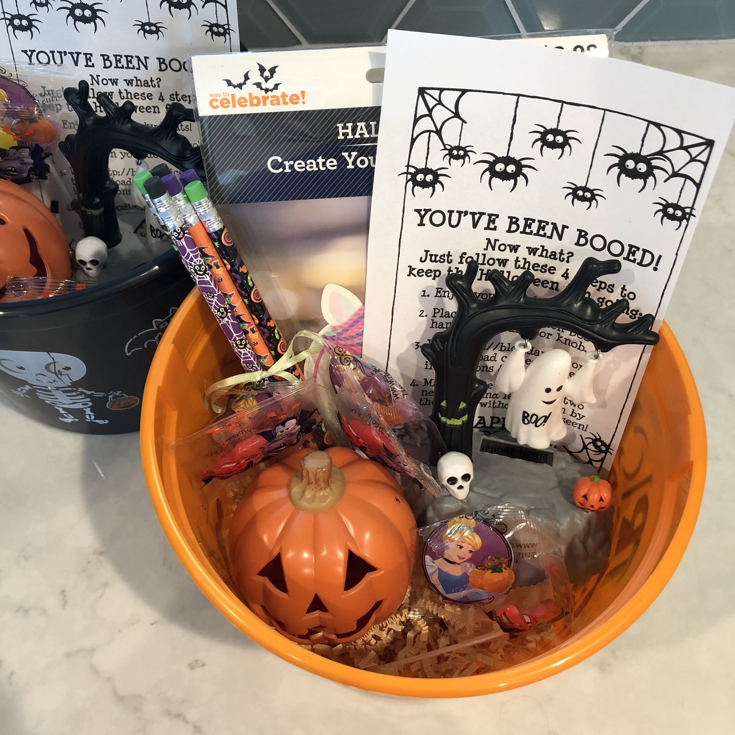 Our Halloween Boo-ing Baskets.