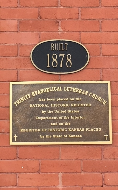 Register of Historic Kansas Places Plaque