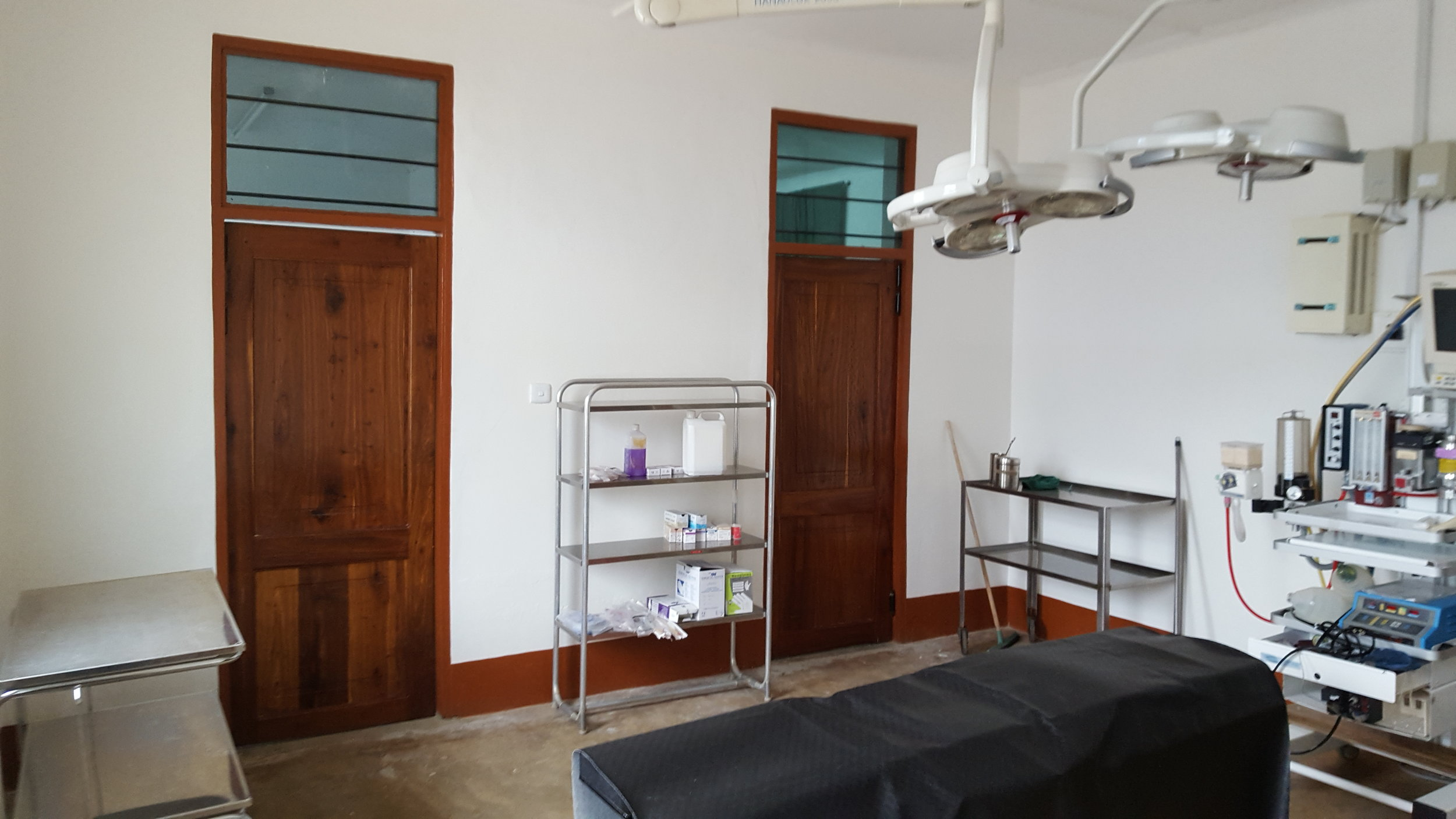 The finished operating theatre