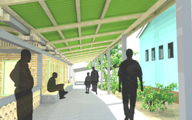 2. A rendering of a path in the new design proposal