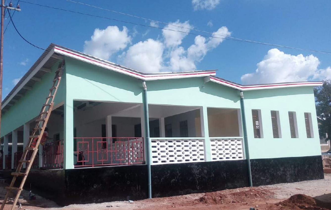 3. A view of the newly constructed eye clinic building