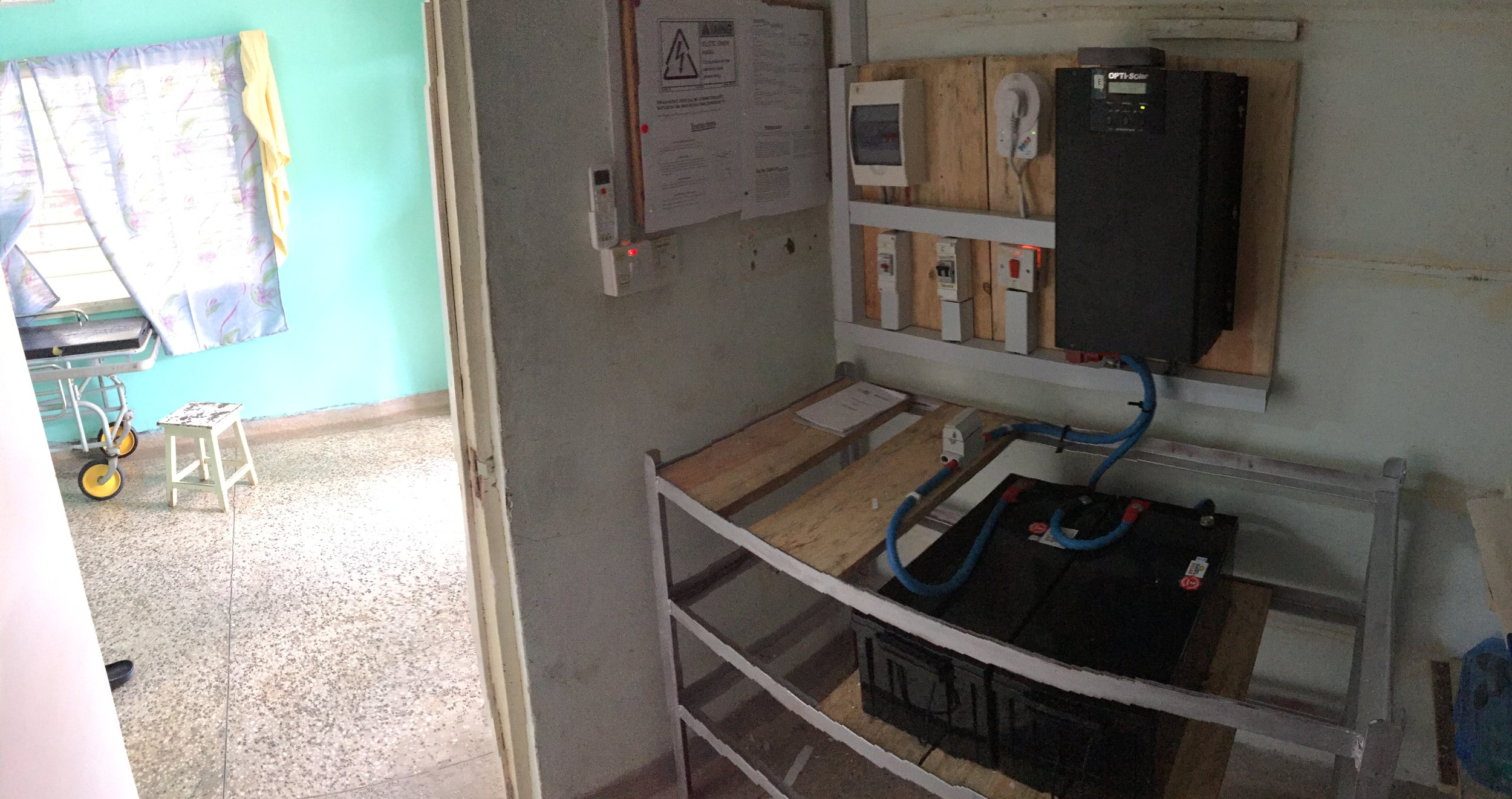One of three rooms for the UPS systems