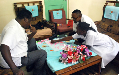 During one of many participatory workshops
