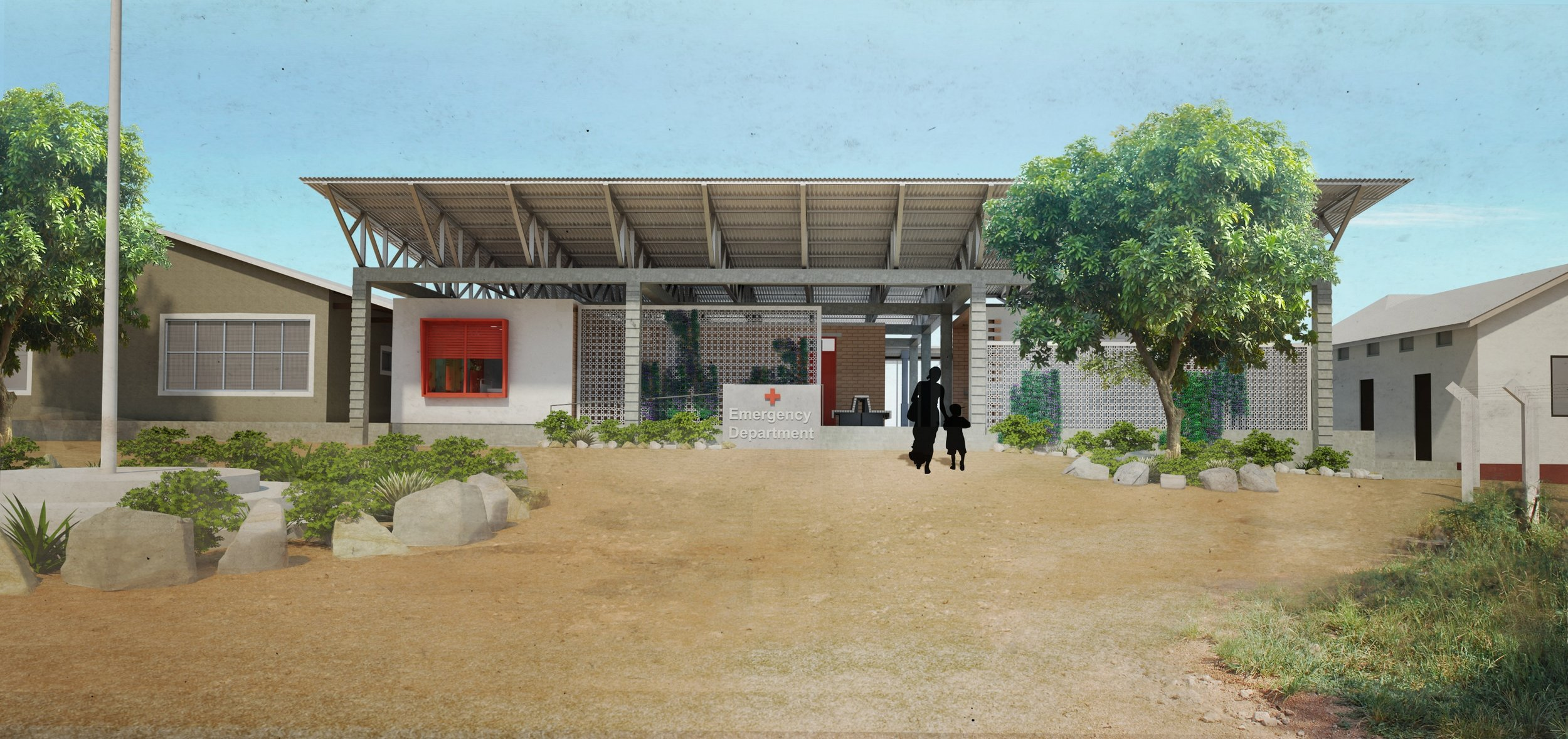 A render of the proposed emergency deparment