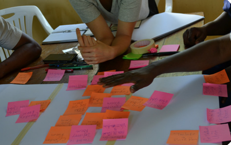 A planning workshop with staff