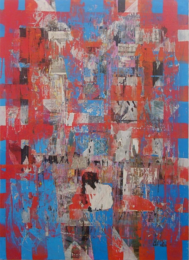 """Sofia, 2009 (mixed media on canvas) 66"""" x 48"""""""