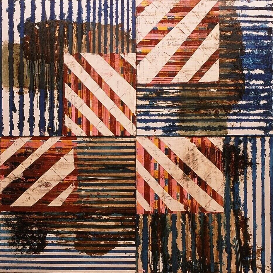 """Samos III, 2003 (enamel on canvas) 67"""" x 67"""""""
