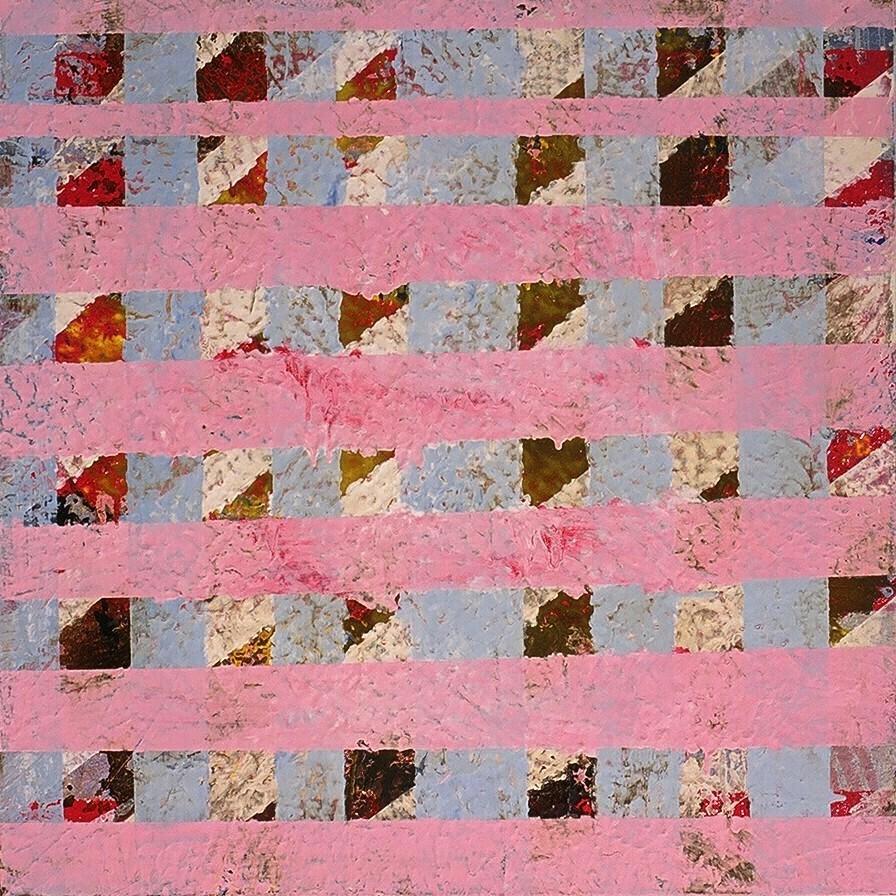 """Elizabeth, 2002 (enamel on canvas) 24"""" x 24"""""""