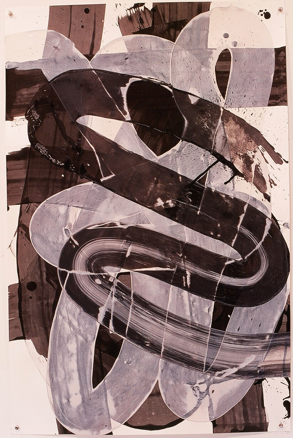 "Works on Paper 22, 2000 (india ink and gesso on paper) 40"" x 26"""