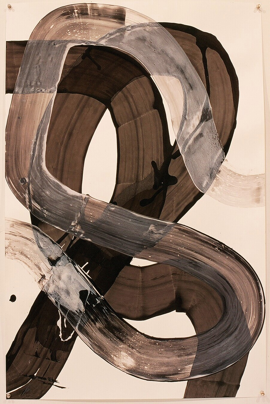 "Works on Paper 24, 2000 (india ink and gesso on paper) 40"" x 26"""