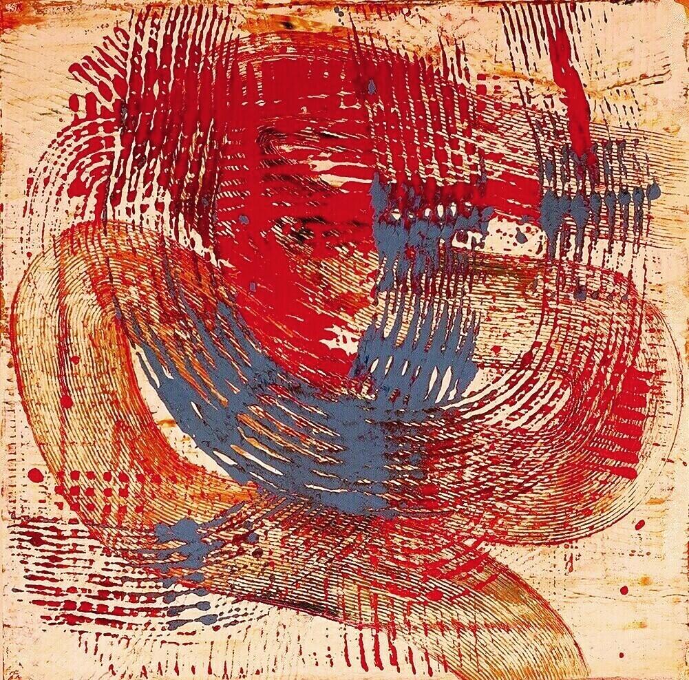 """Impression, 1999 (enamel on canvas) 24"""" x 24"""""""