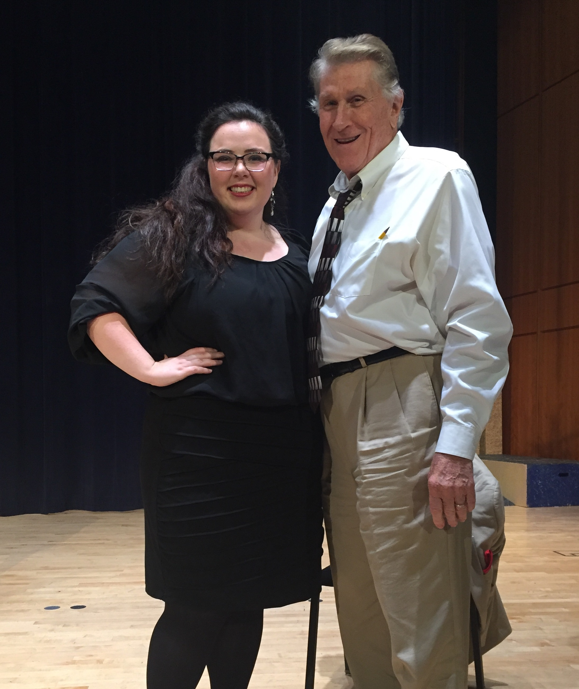After Singing in a Masterclass with Sherrill Milnes at Harrower Summer Opera Workshop