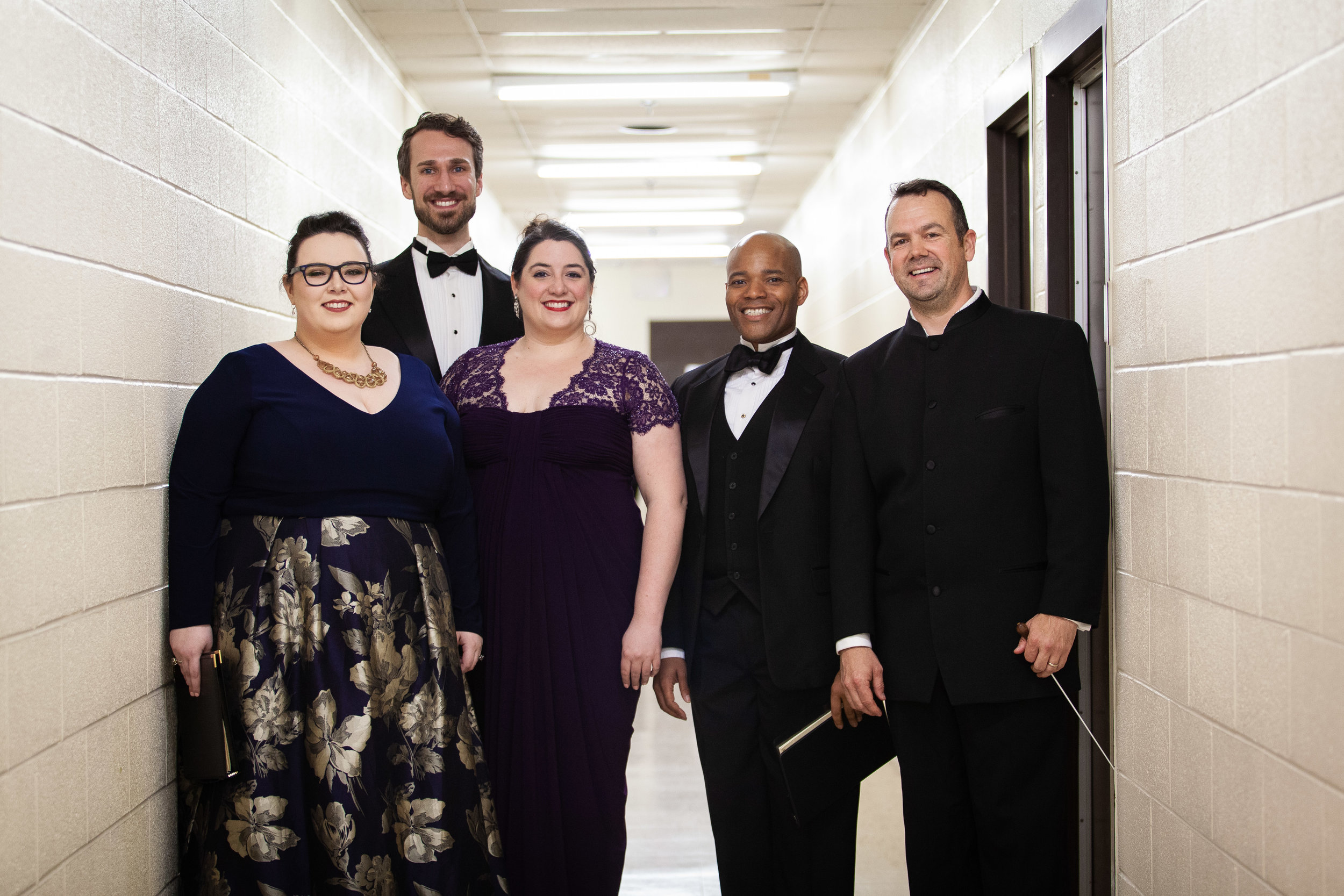 Soloists of Beethoven's 9th Symphony with Maestro Matthew Aubin of Jackson Symphony  Photo Credit: Coley Kennedy