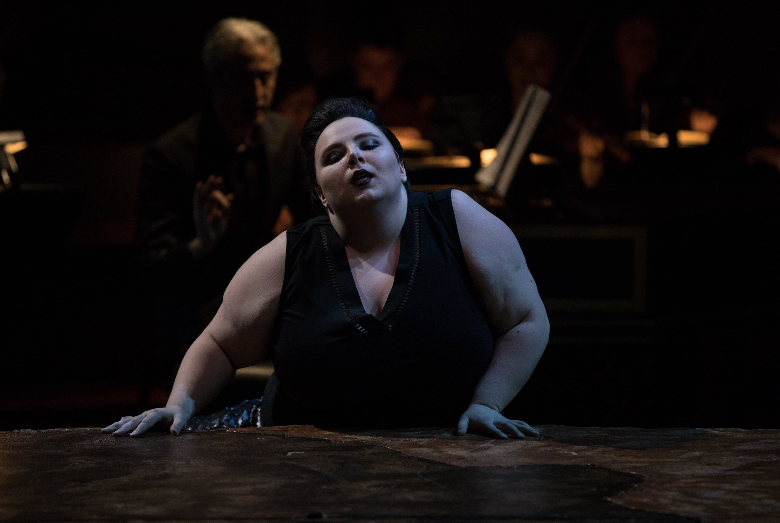 Performance as The Sorceress in Purcell's  Dido and Aeneas  at Juilliard with Juilliard415  Photo Credit: Rosalie O'Connor