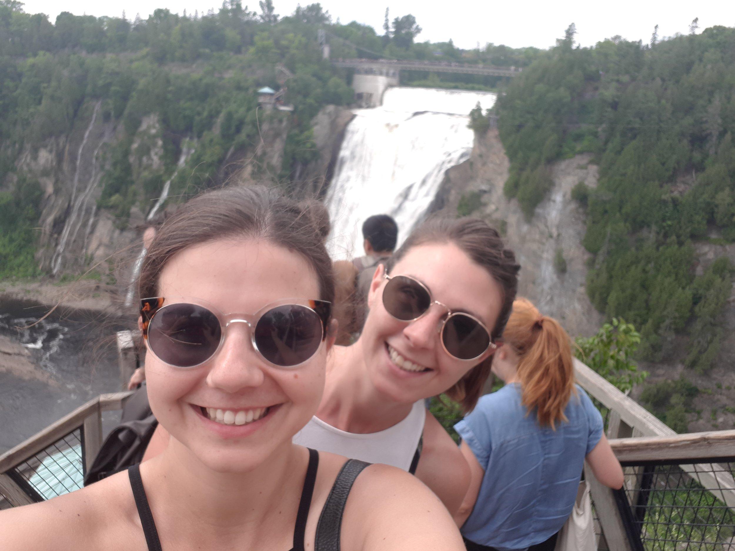 Pre zip line! Montmorency Falls, Quebec