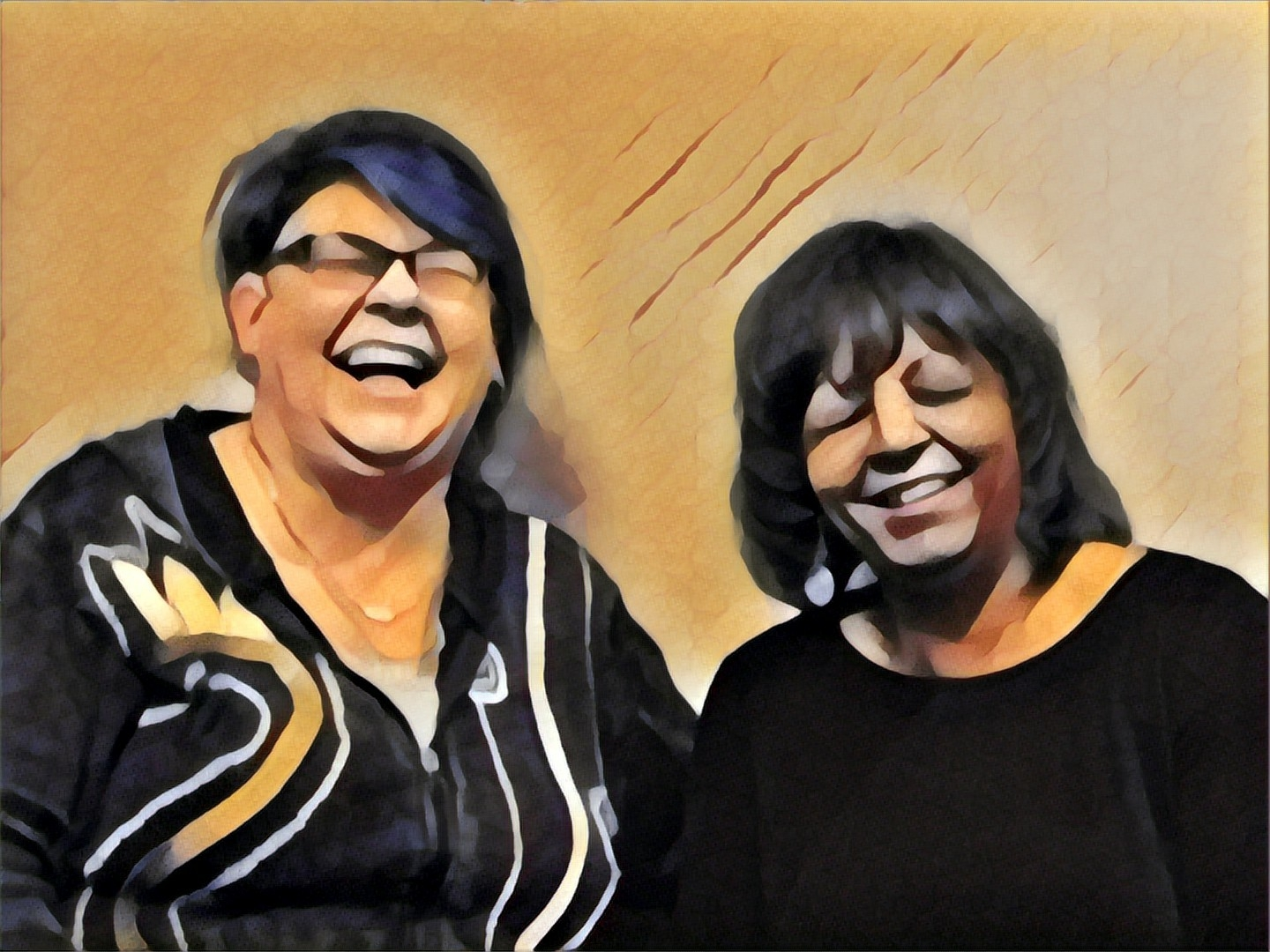 A moment of levity, as we look back on a decade of artful adventures at Art of the Carolinas (photo:  Laurel Rupe -- altered in the Prisma app)