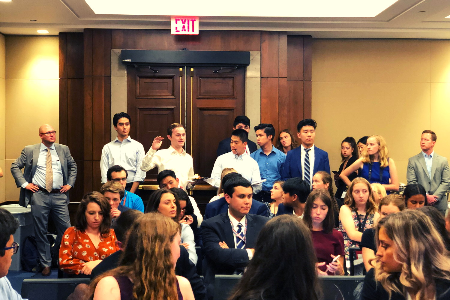 Attendees asking questions at our Congressional briefing.