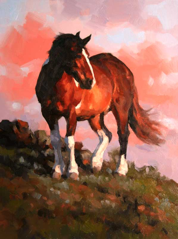 """Gentle Giant"" 8x6 oil  Private Collection"