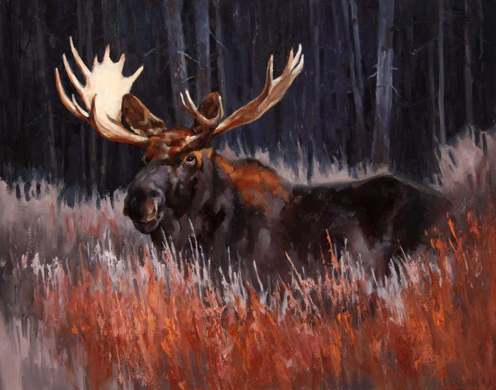 """""""High Wide and Handsome"""" 11x14 oil  Private Collection"""