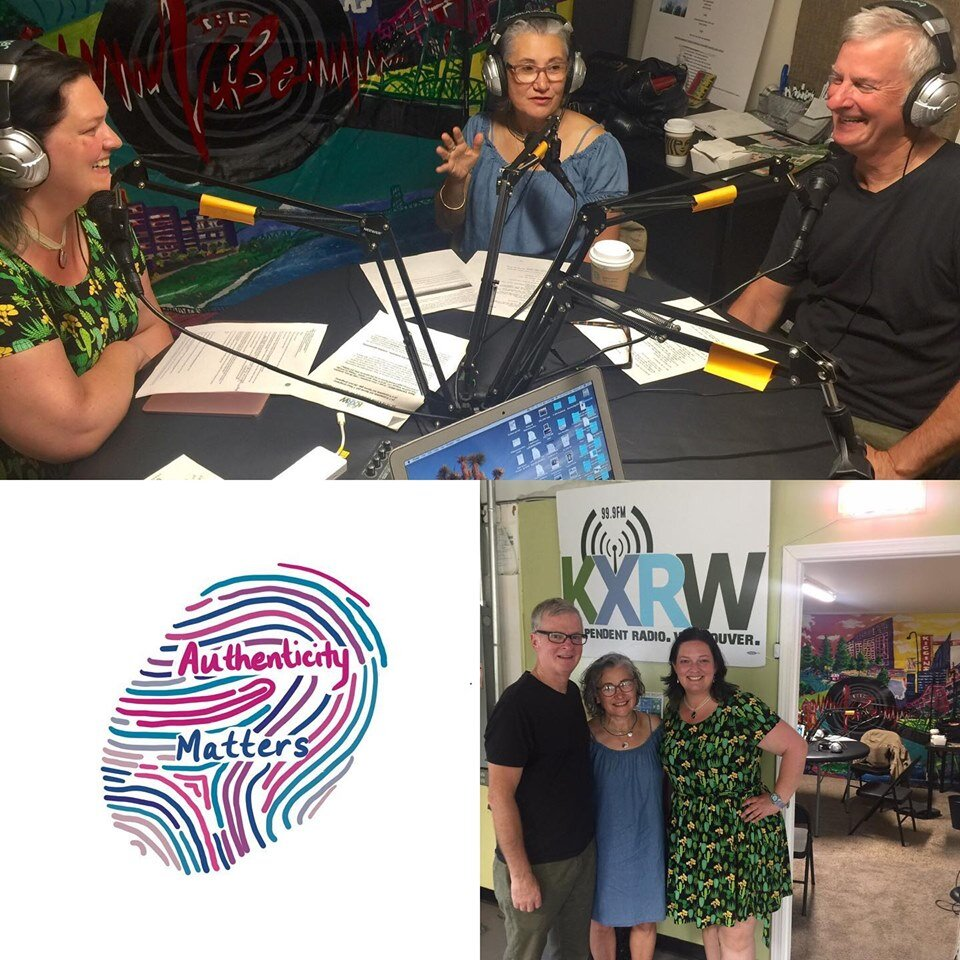 """Here we're interviewed for the podcast """"Authenticity Matters"""" with Jen Coyne, Mary Anne Harmer & Tom Hering."""