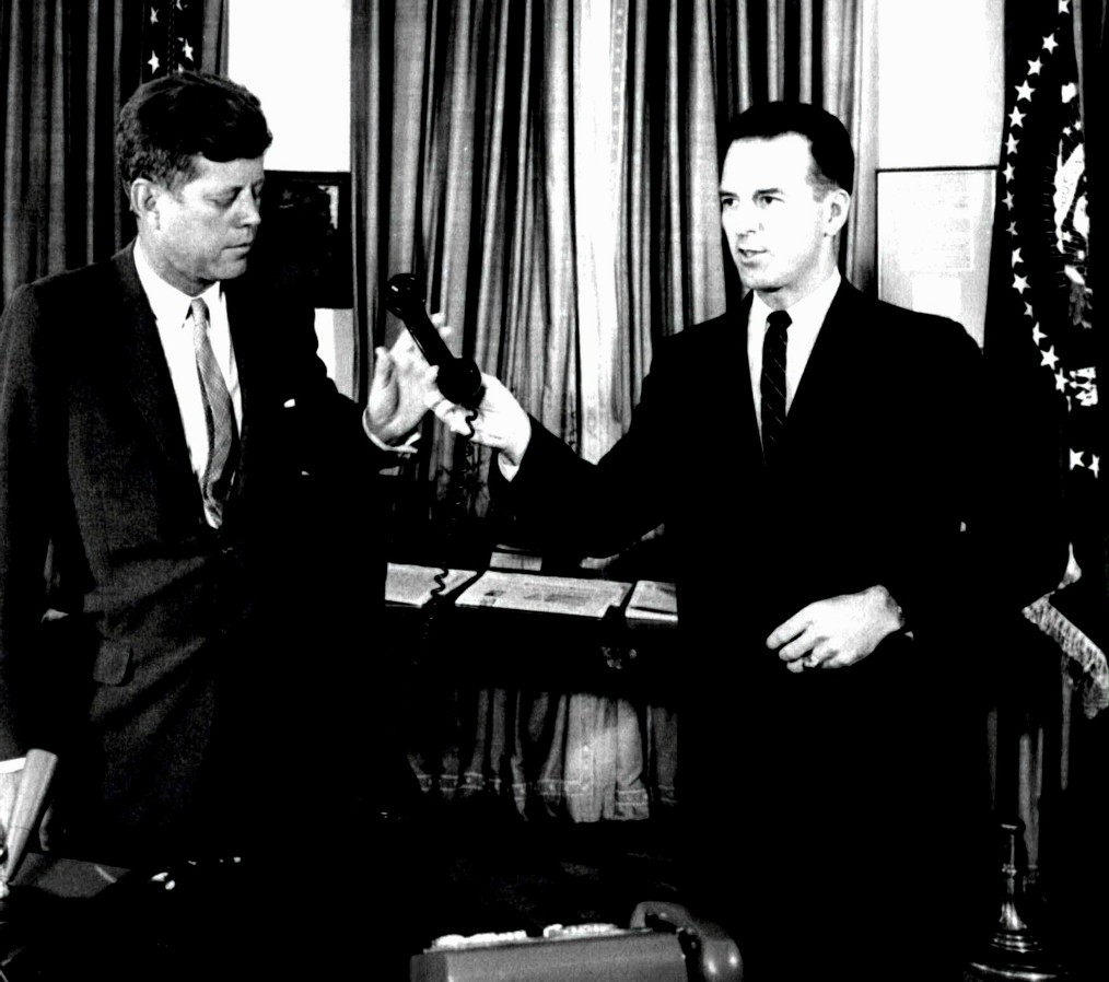 Major Jack Rubley with JFK - White House