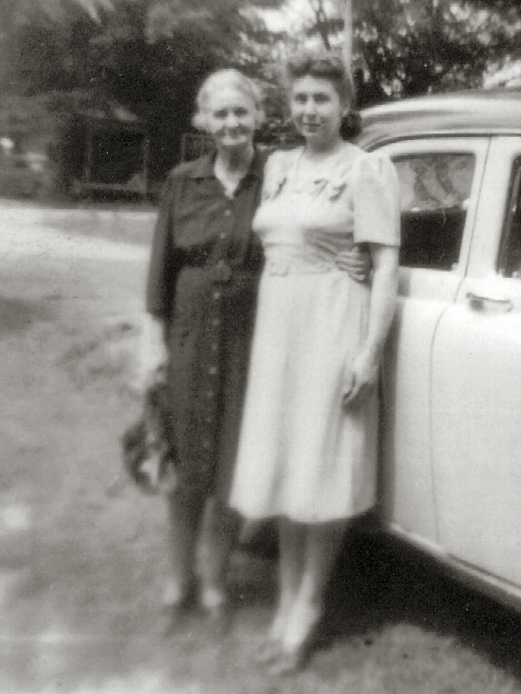 Cora Lee (Adolph's Wife) & oldest daughter,  Viola Mae Rubley McGough