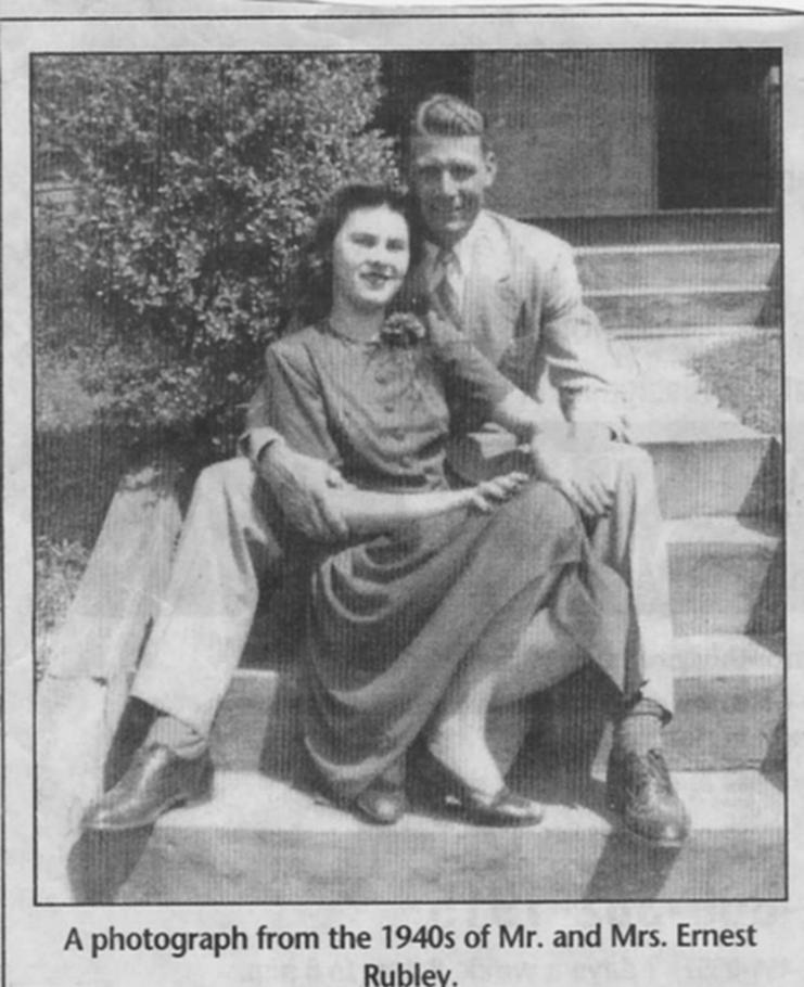 Ernest & Mary Frances Miller Rubley - 1942
