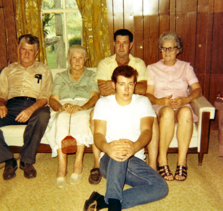 Louie, Leona, Albert Jr., Viola  James A. (Albert Jr's Son) - 1970
