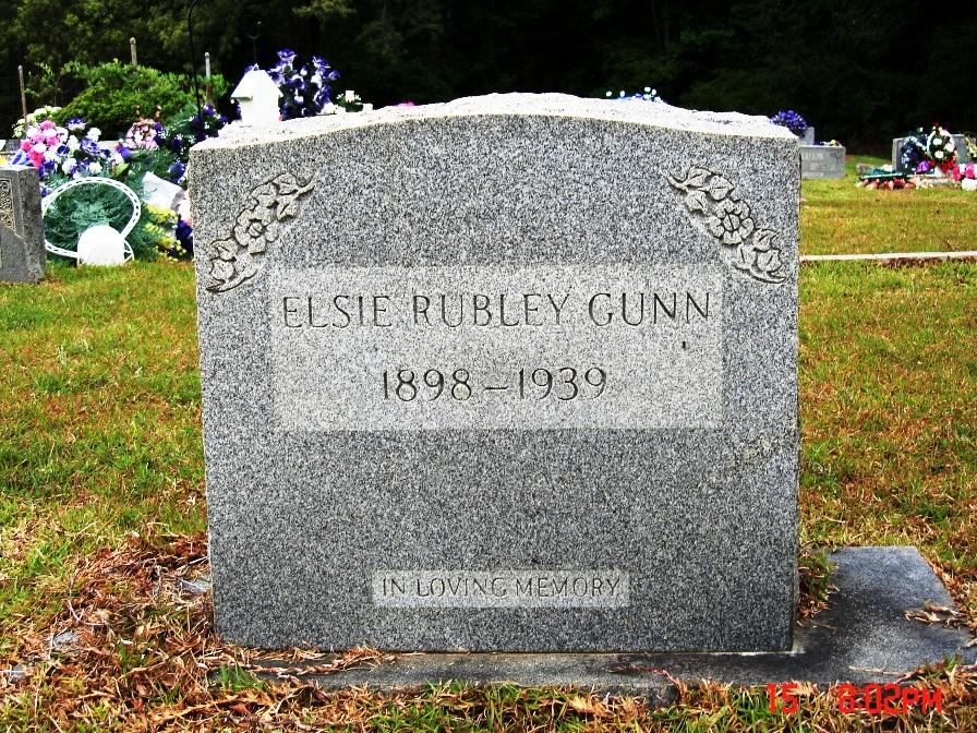Elsie Rubley Gunn (Daughter of William)