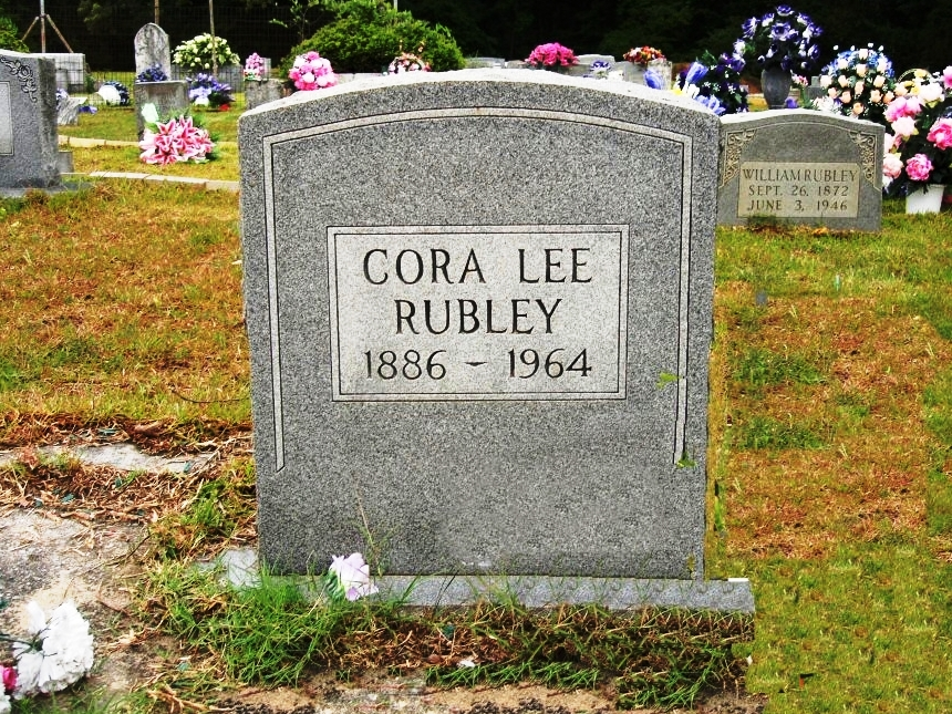 Cora Lee Thomas Rubley  (Wife of Adolph Rubley)