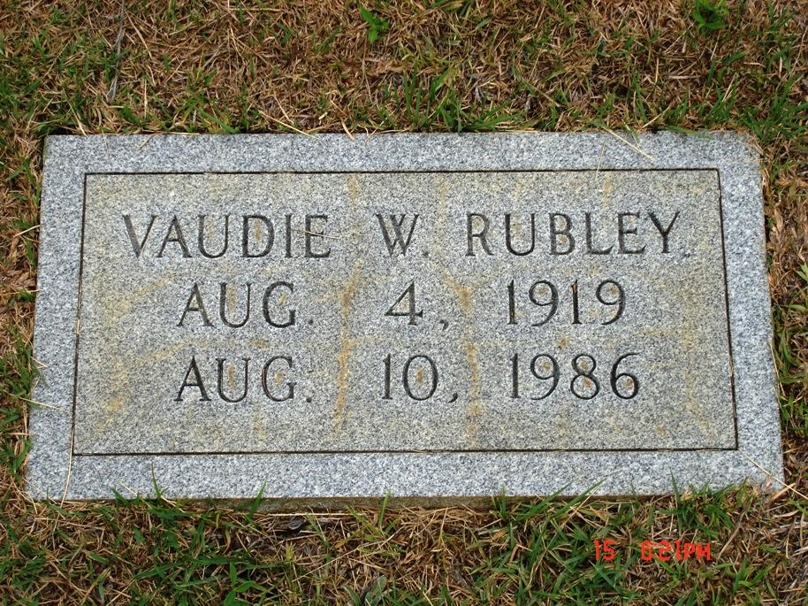Vaudie Warren Rubley,  Wife of Charles Edward Rubley