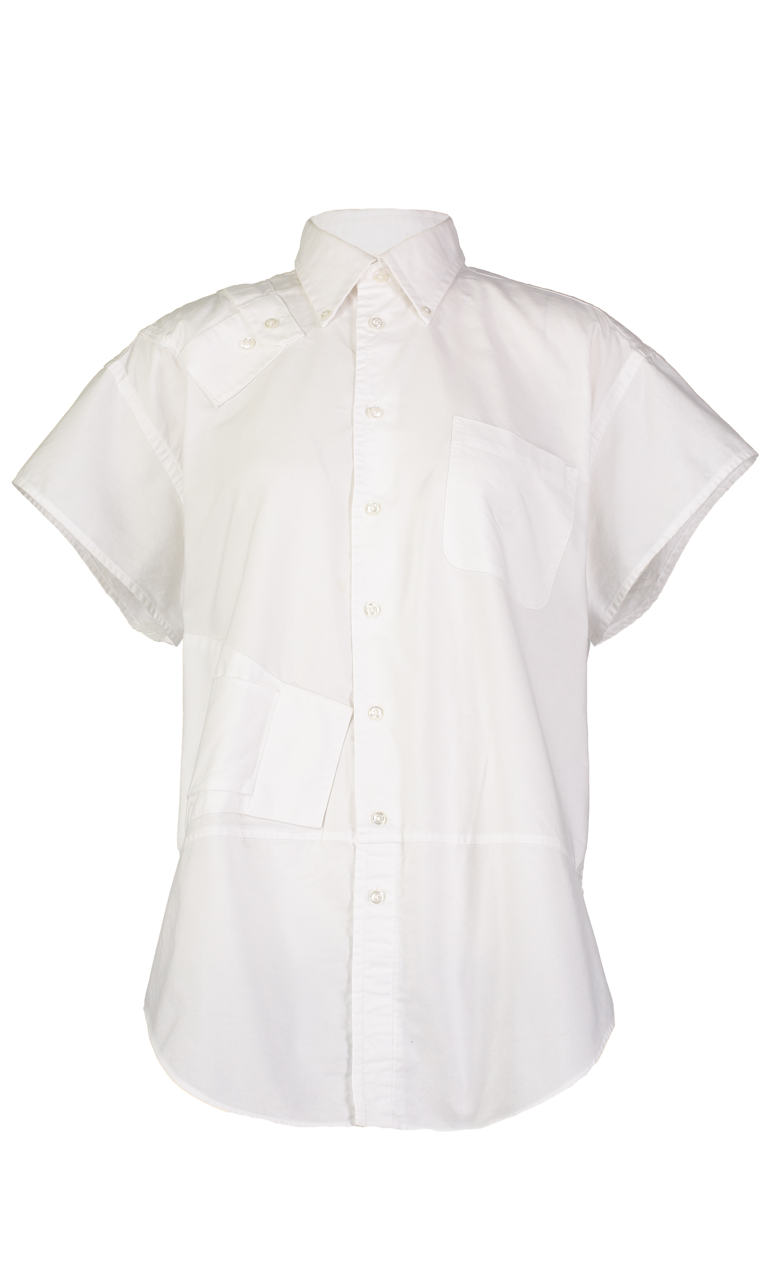 """The Sam Shirt - Length - 32"""" for all sizesBust - [S = 46""""] [M = 50""""] [L = 54""""]Waist - [S = 44-48""""] [M = 49-52""""] [L = 53-56""""] *due to the upcycled and oversized nature of this garment the waist size may vary slightly."""