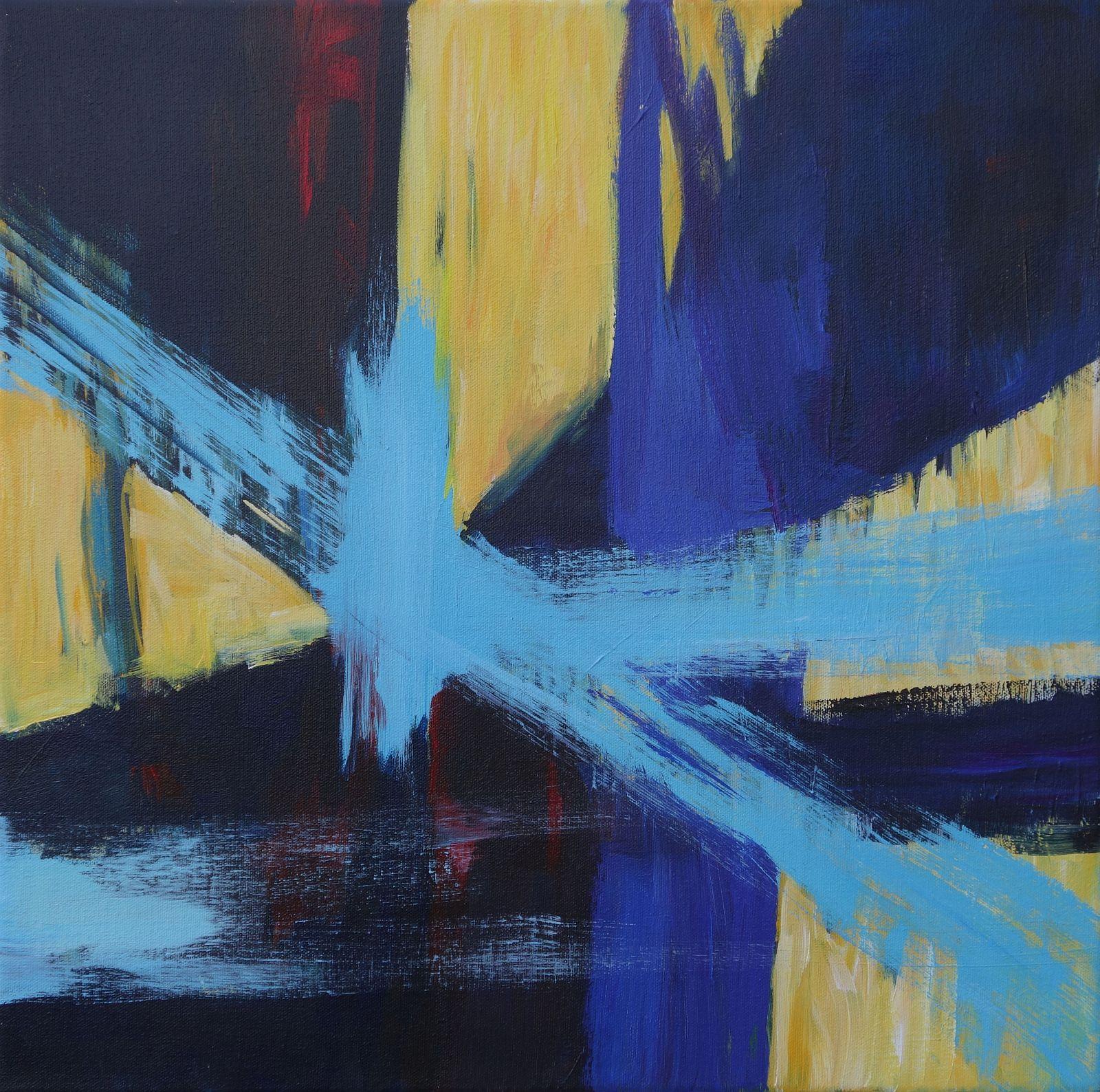 Yellow #4 Blue Cross,
