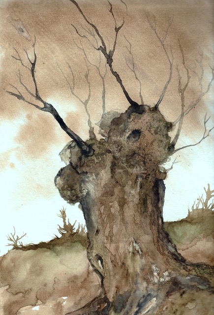 La Vieux Saule (The Old Willow)watercolor on paper
