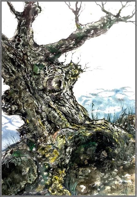 Cliffhangerwatercolor on paper