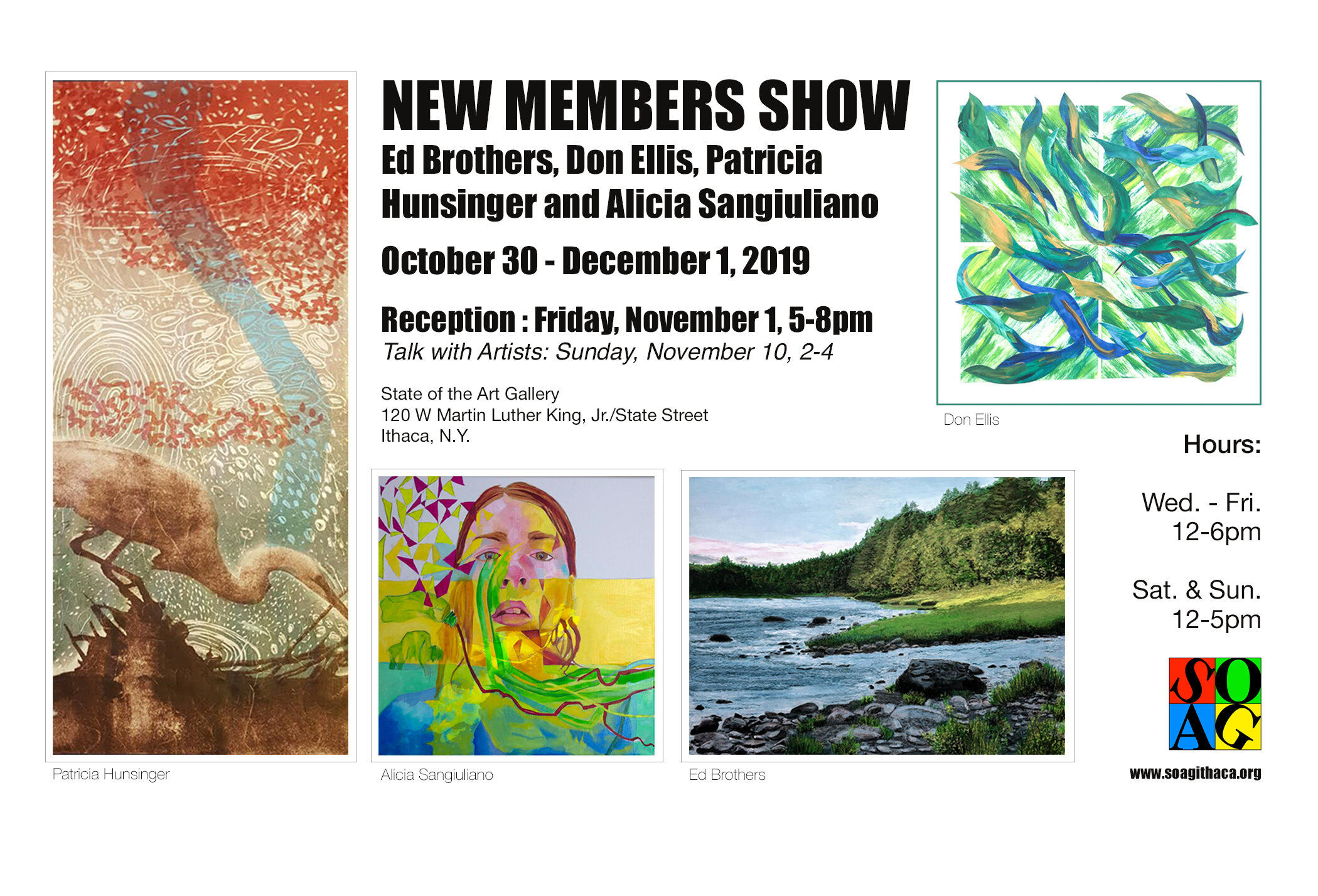 ARTIST TALK: Rivers of Change    Sunday November 10 from 2:00 until 4:00