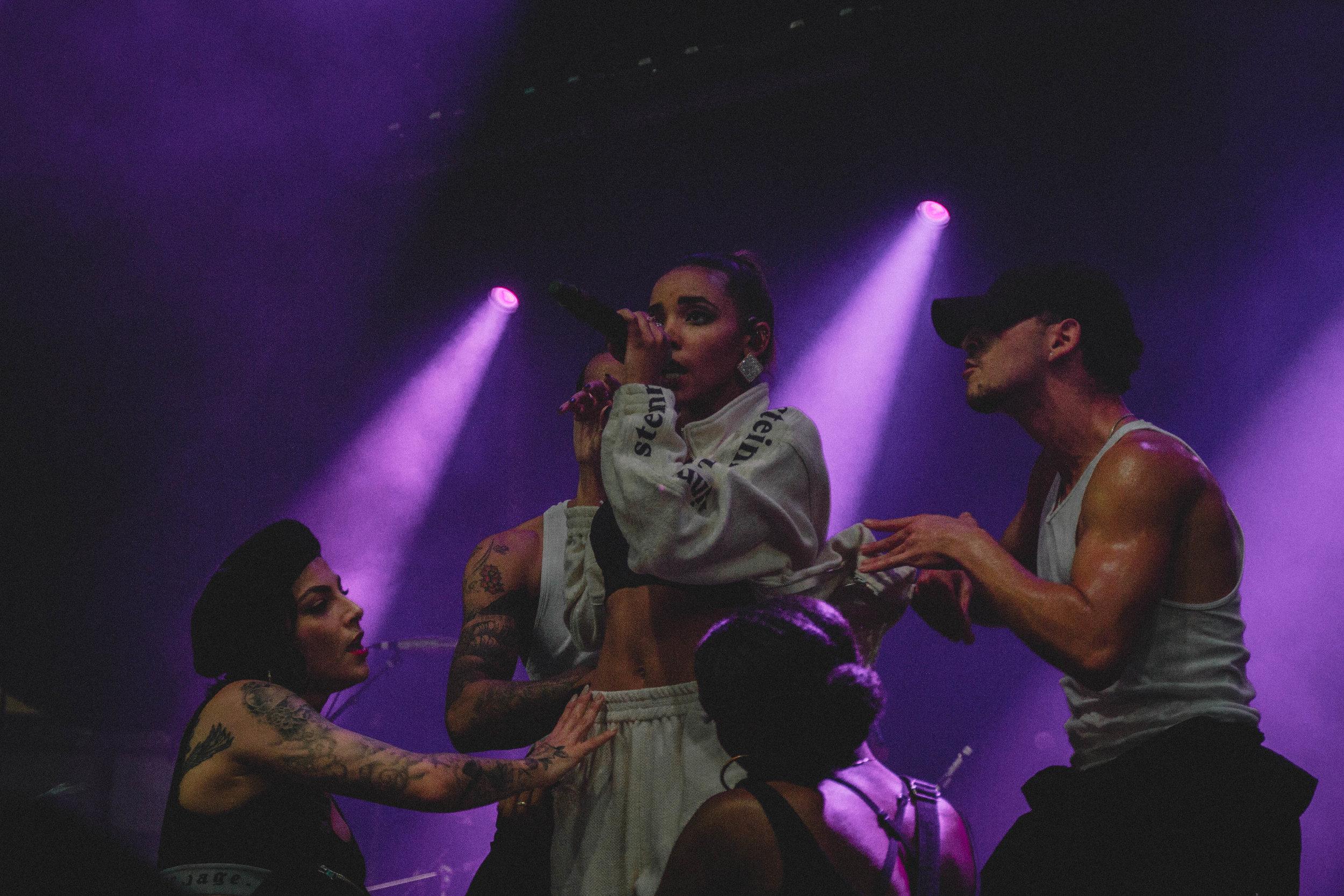 Tinashe performing at NXNE Festival Village Day 3 at Yonge-Dundas Square