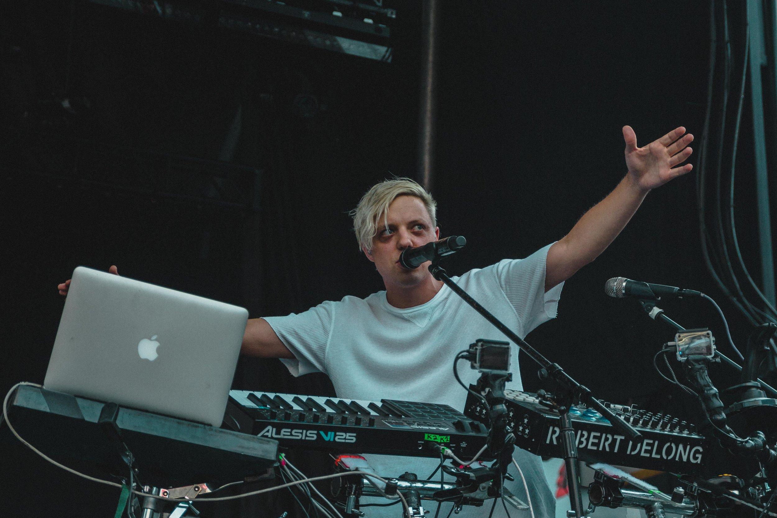 Robert DeLong performing at NXNE Festival Village Day 3 at Yonge-Dundas Square