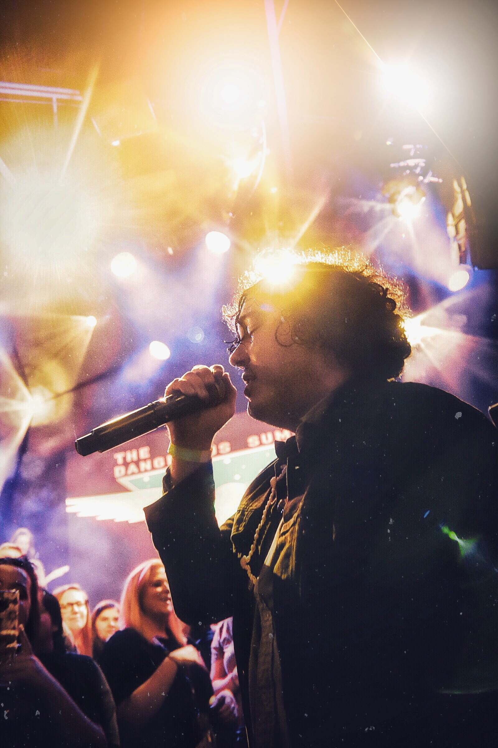 AJ Perdomo of The Dangerous Summer explores the crowd at the Cowan in Nashville, TN.