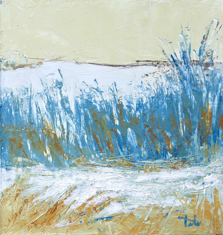Beach Grass 2 • Oil on wood • 12.5 x 10