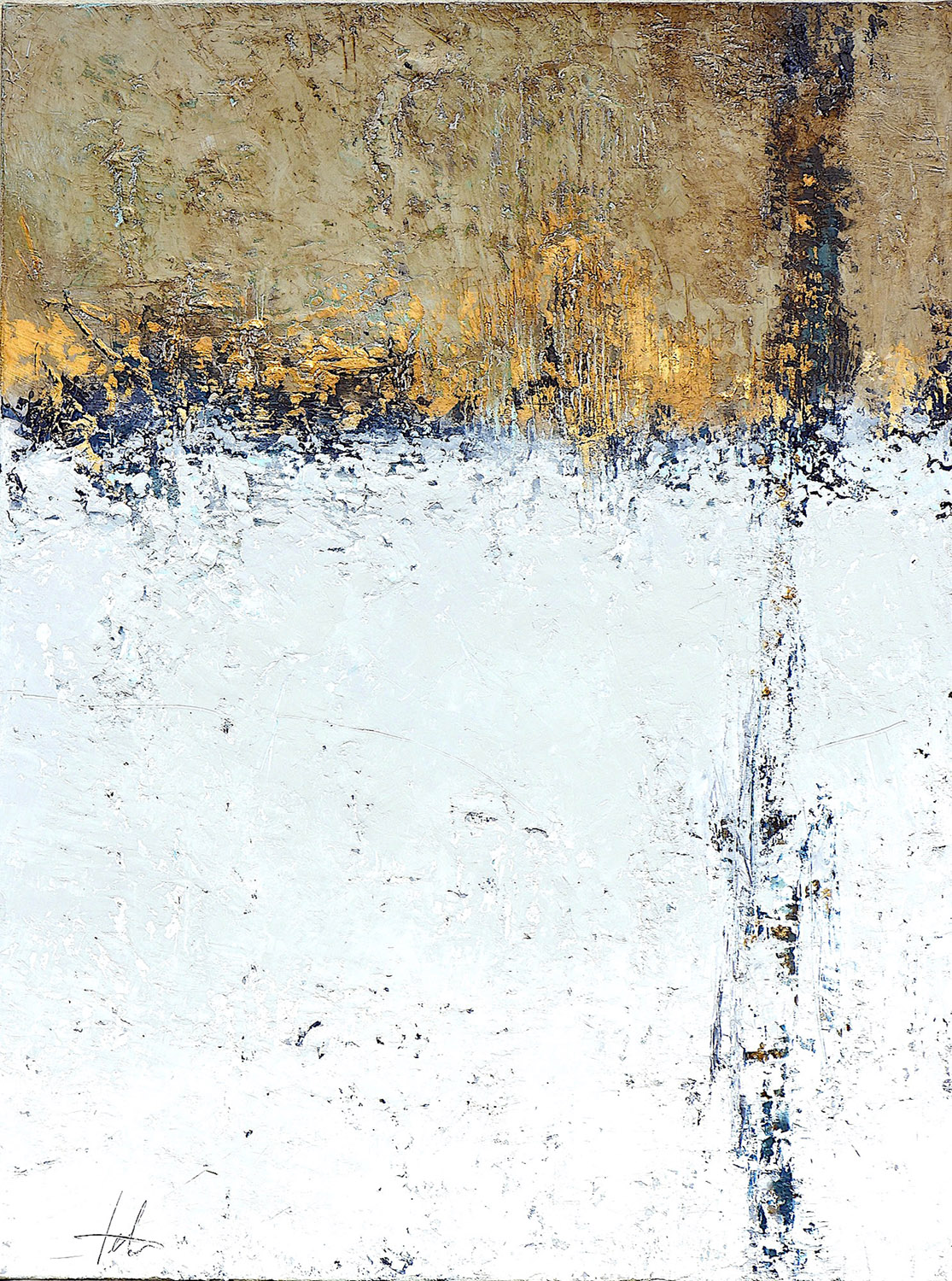 """Burnished Gold • Oil on canvas • 40 x 30"""""""