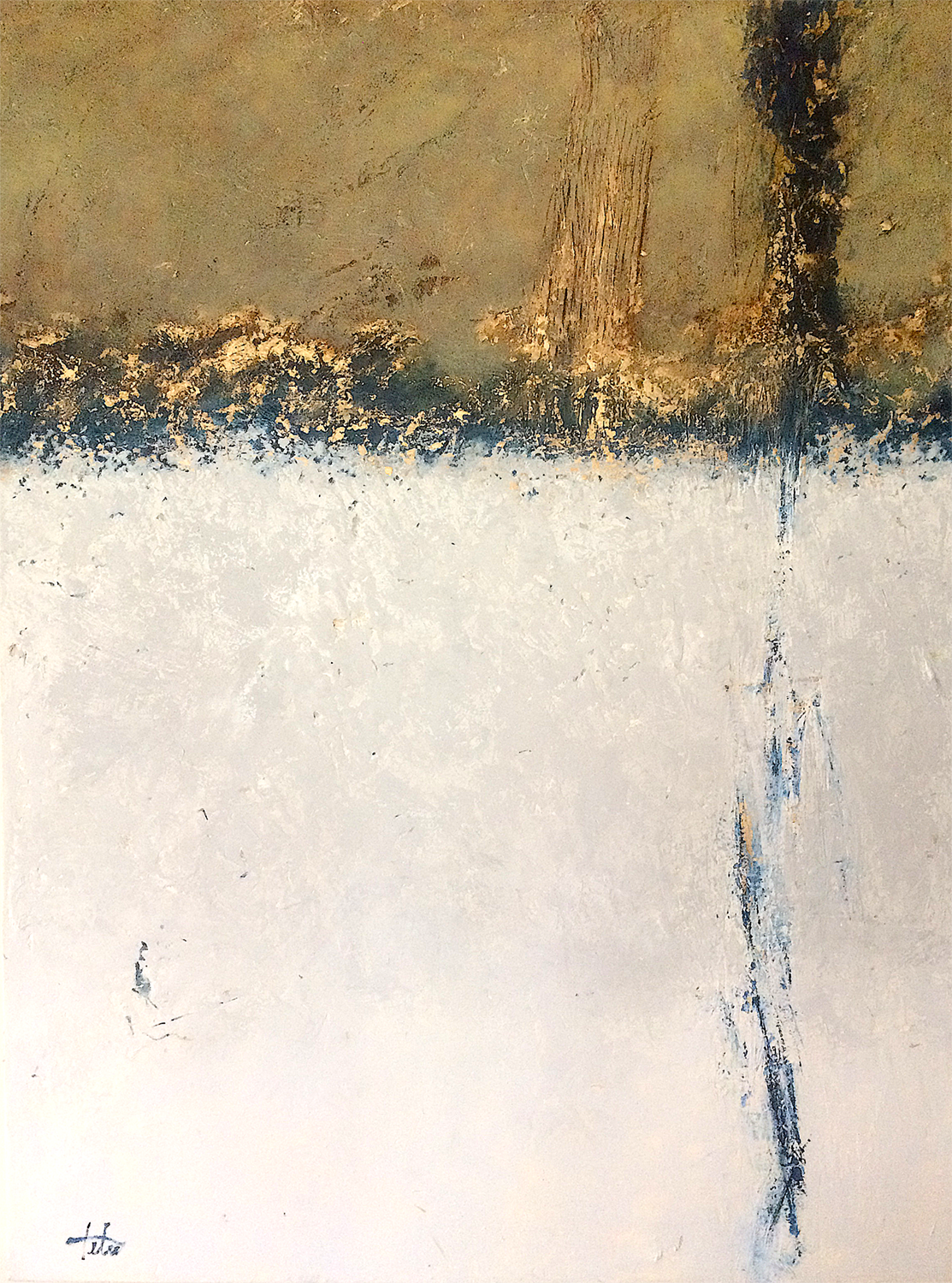 """Burnished Gold II • Oil on canvas • 40 x 30"""""""