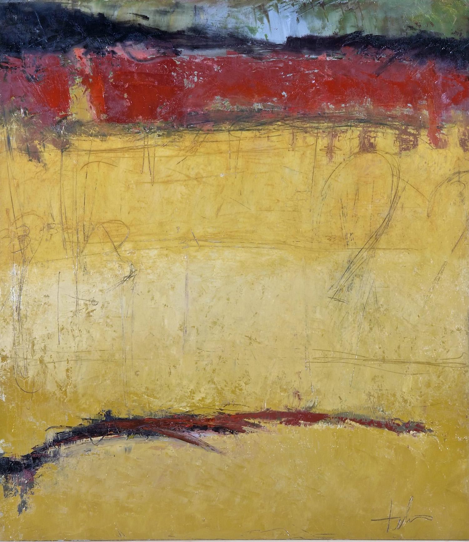 "Indian Heat • Oil on canvas • 42 x 34"""