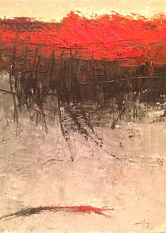 "Underground • Oil on canvas • 40 x 30"""