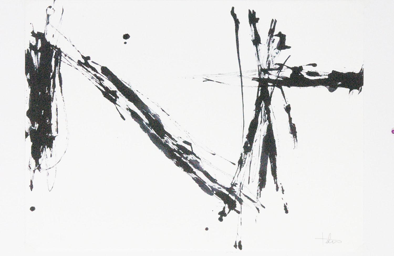 "Flight 2 • Black ink on paper • 24 x 30"""