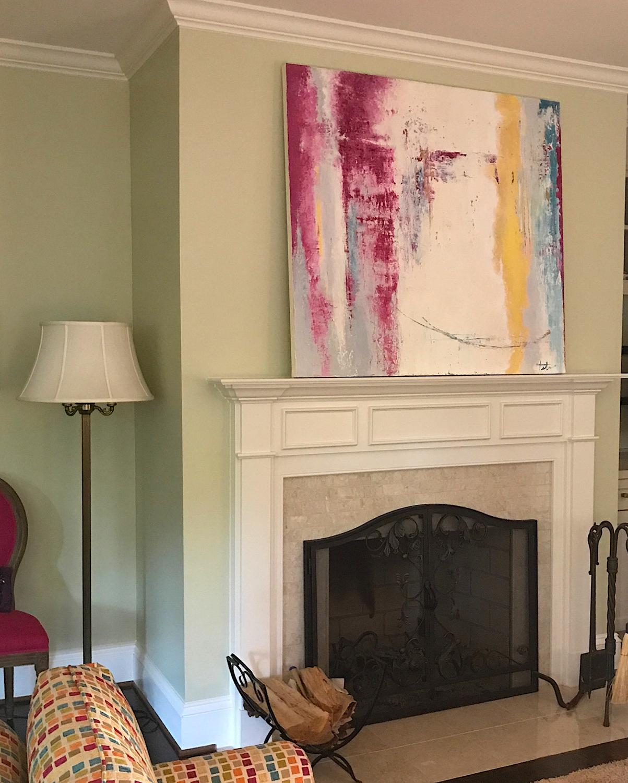 """Lisa K • Oil on canvas • 46 x 50"""""""