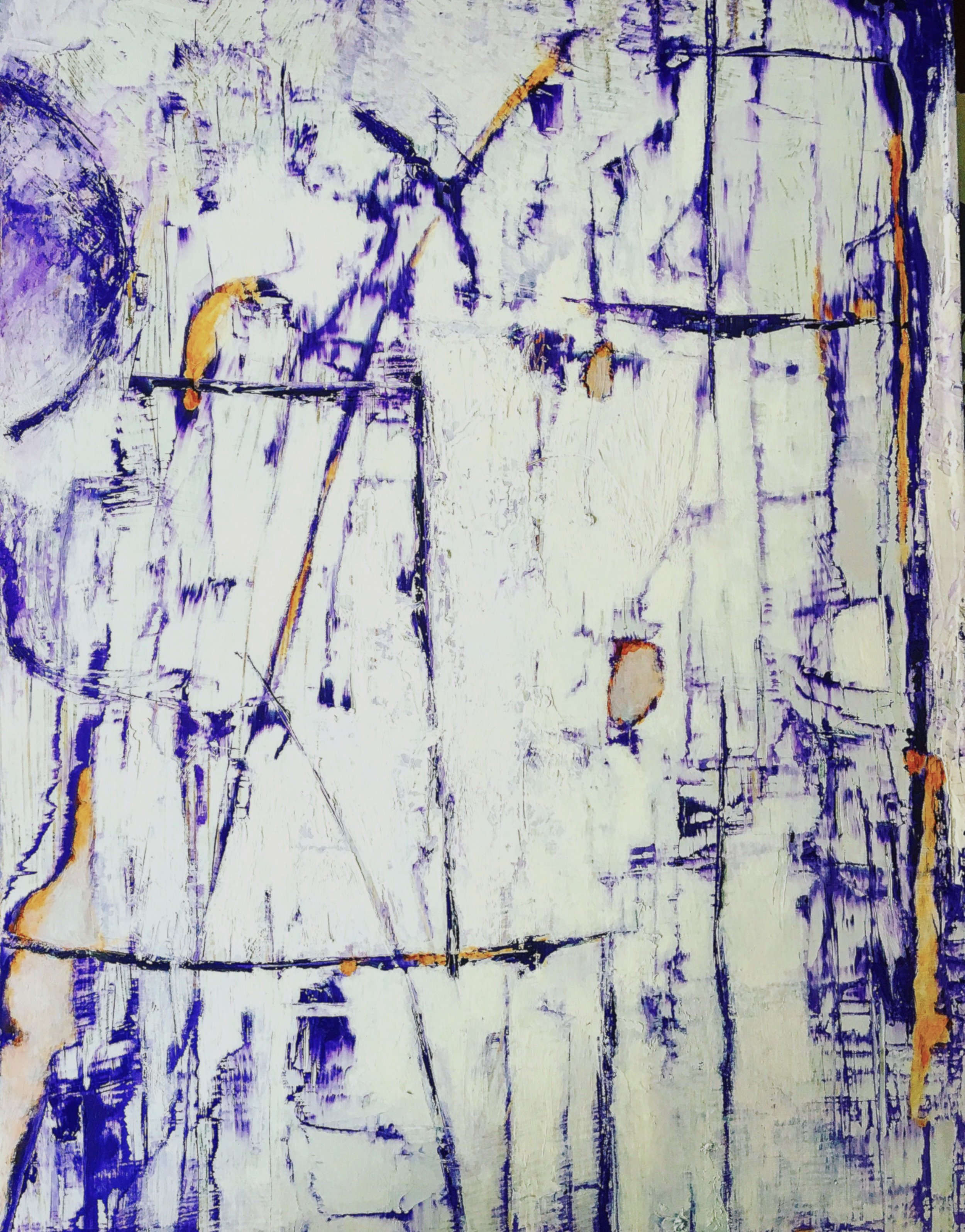 "Crocus Dreams • Oil on wood • 14 x 16"""
